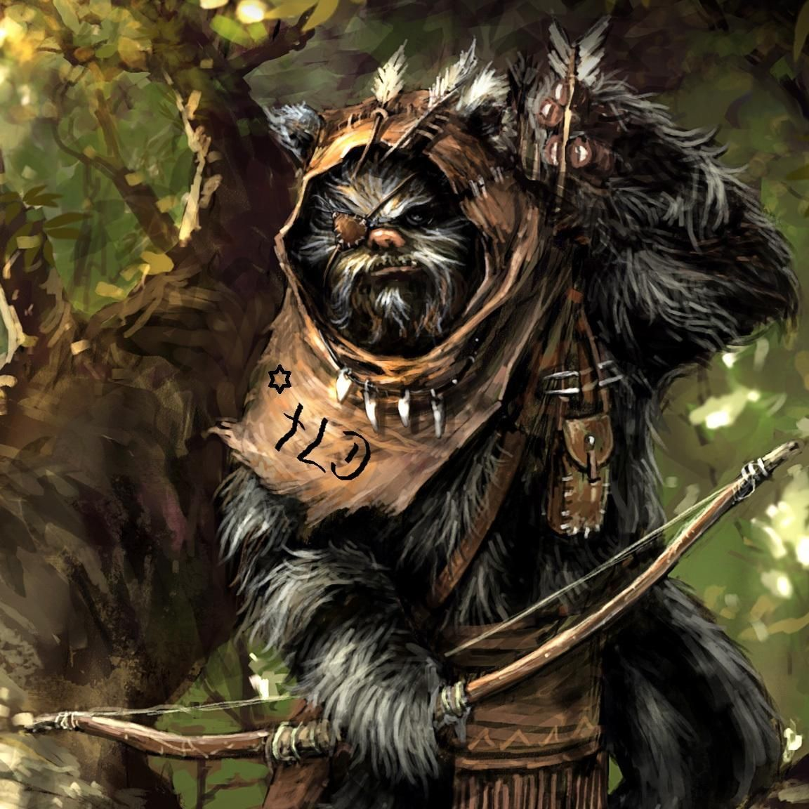 Image result for Ewok art