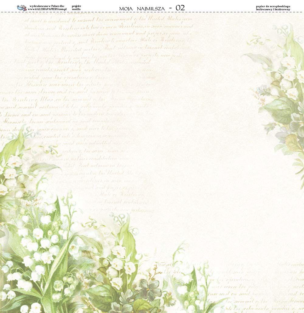 Galeria Papieru Floral Border Design Paper Background Scrapbook Printables