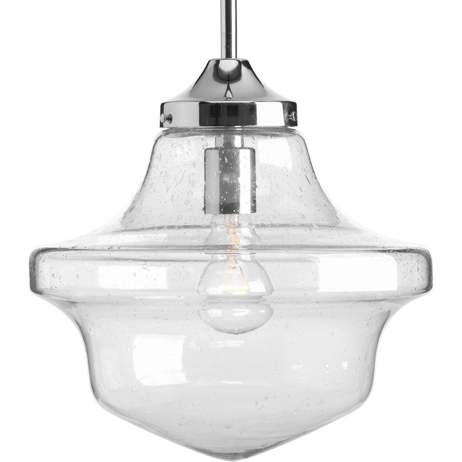 Pendant Lights At Lowes Extraordinary Progress Lighting Schoolhouse 12In Chrome Single Clear Glass