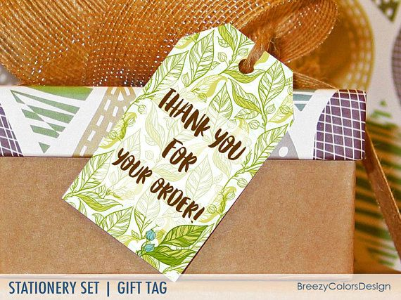 thank you tags for plants printable gift card greenery