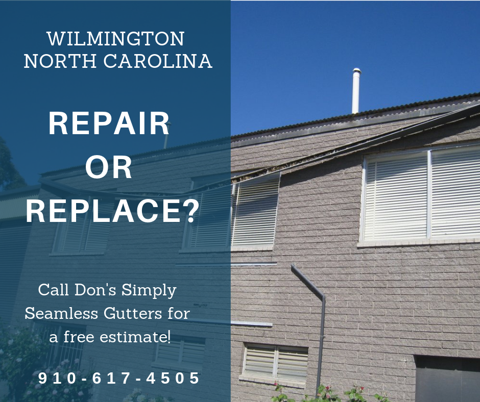 Gutter Replacement Or Gutter Repair The Question Of Whether To Repair Or Replace A Gutter System Is A Common Question Seamless Gutters Gutter Repair Gutters