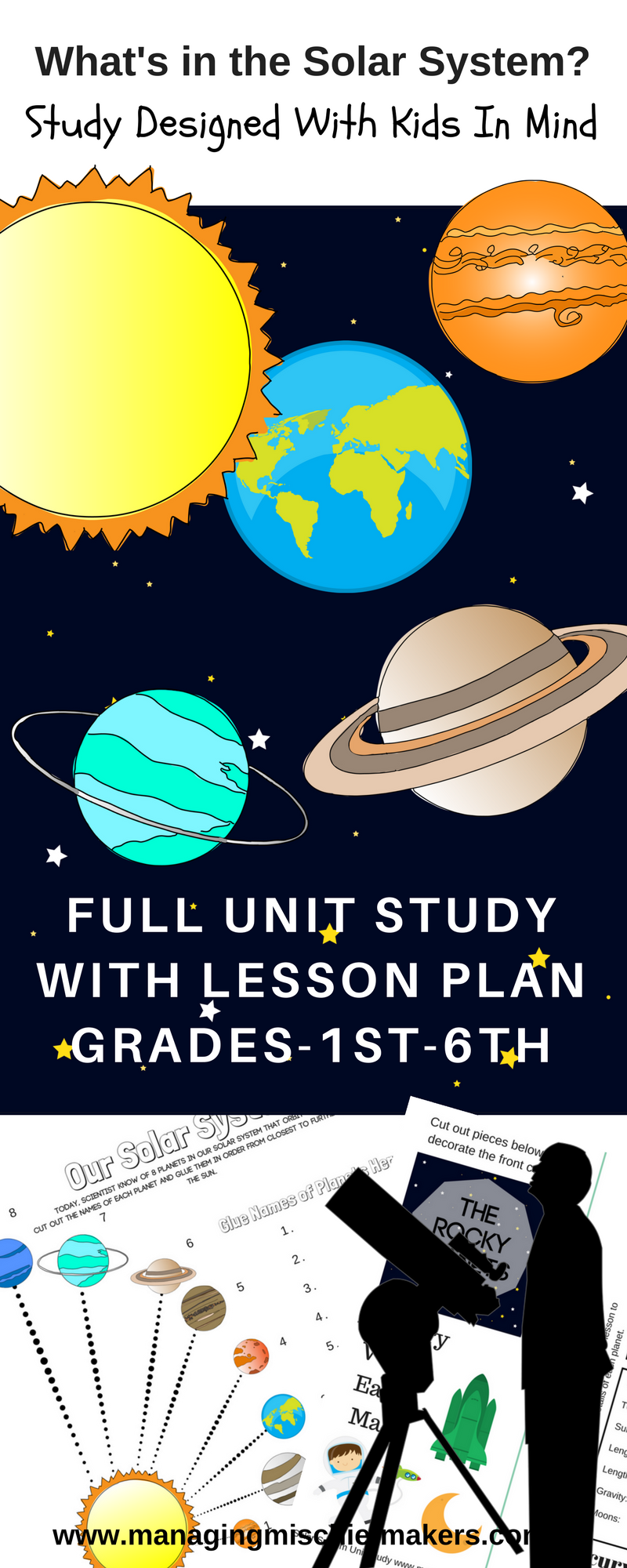 Full Solar System Online Unit Study Coming soon. Designed for homeschool families by a full time homeschool mom.