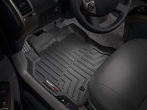 2016 Toyota Tacoma Weathertech Floor Liners Front Set Double Cab Automatic Black Weather Tech Floor Liners Weather Tech Floor Mats