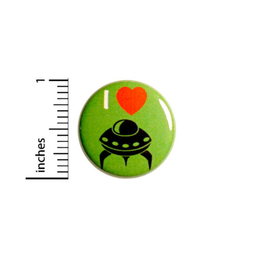 Alien Button Aliens Are Real Backpack Pin Cute Geeky Pin Funny Pinback Badge Lapel Pin 1 Inch 95-3