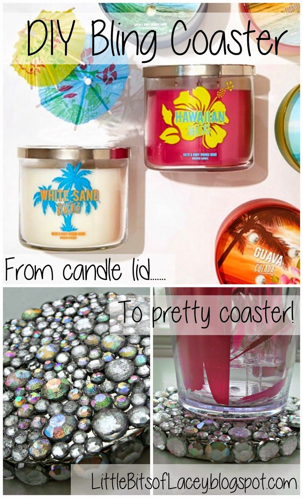 From candle lid to pretty coaster candle lid candle