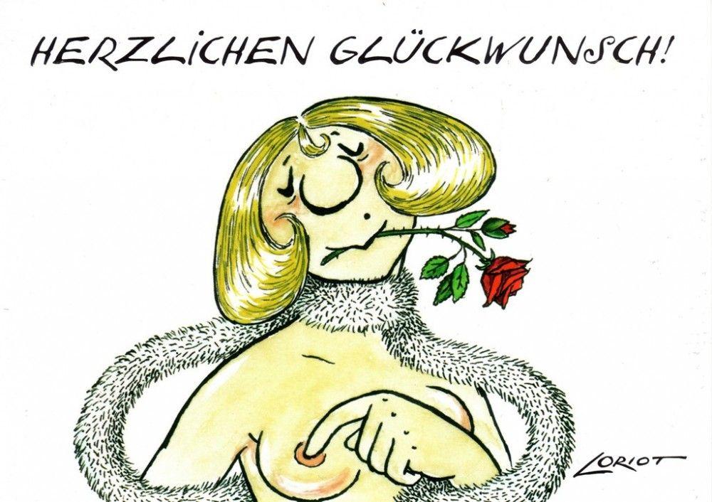 Herzlichen Gluckwunsch Dame Loriot Humor Postkarte Loriot