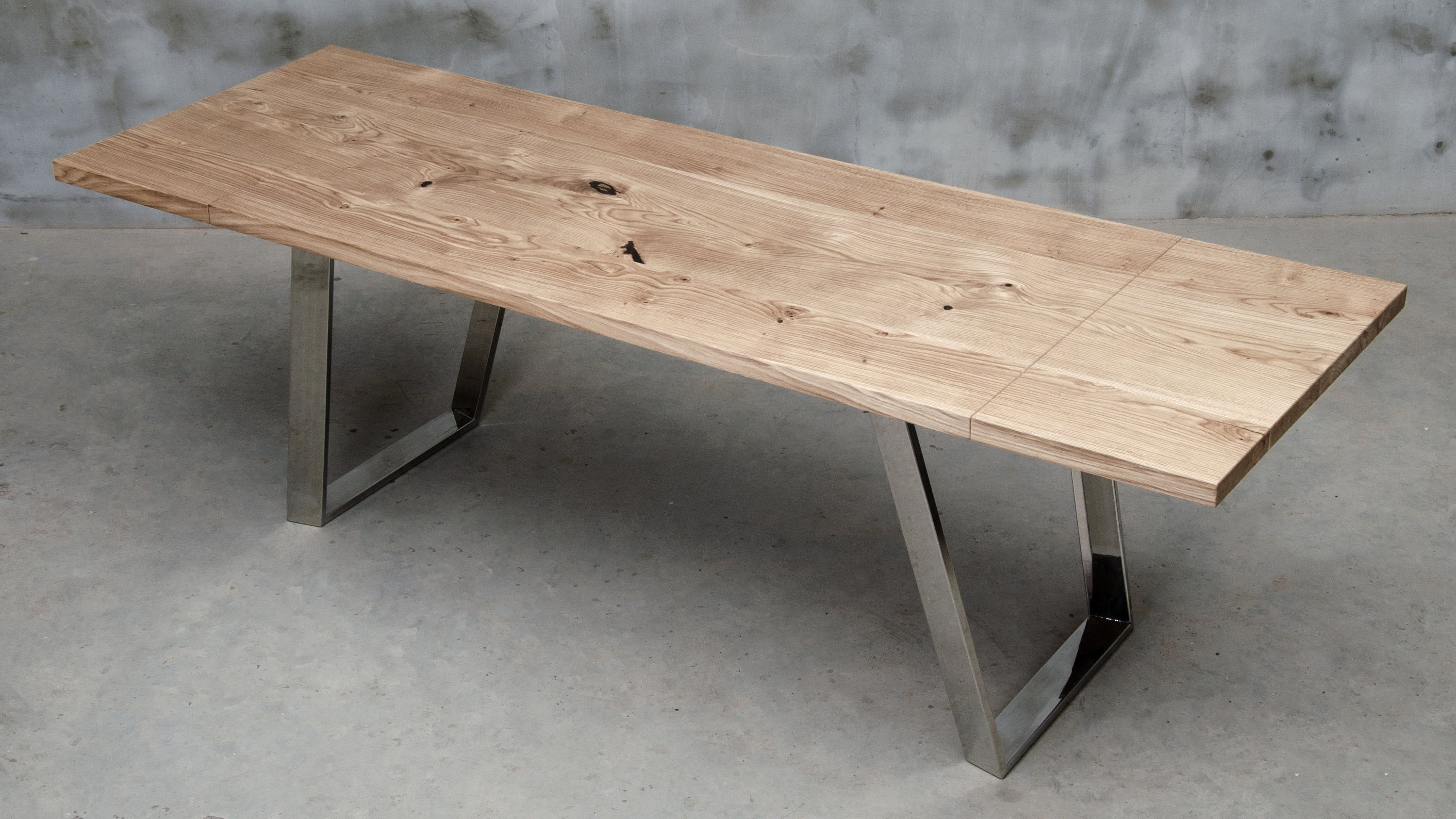 Custom Folding Table Made Of Oak Wood Conference Table With