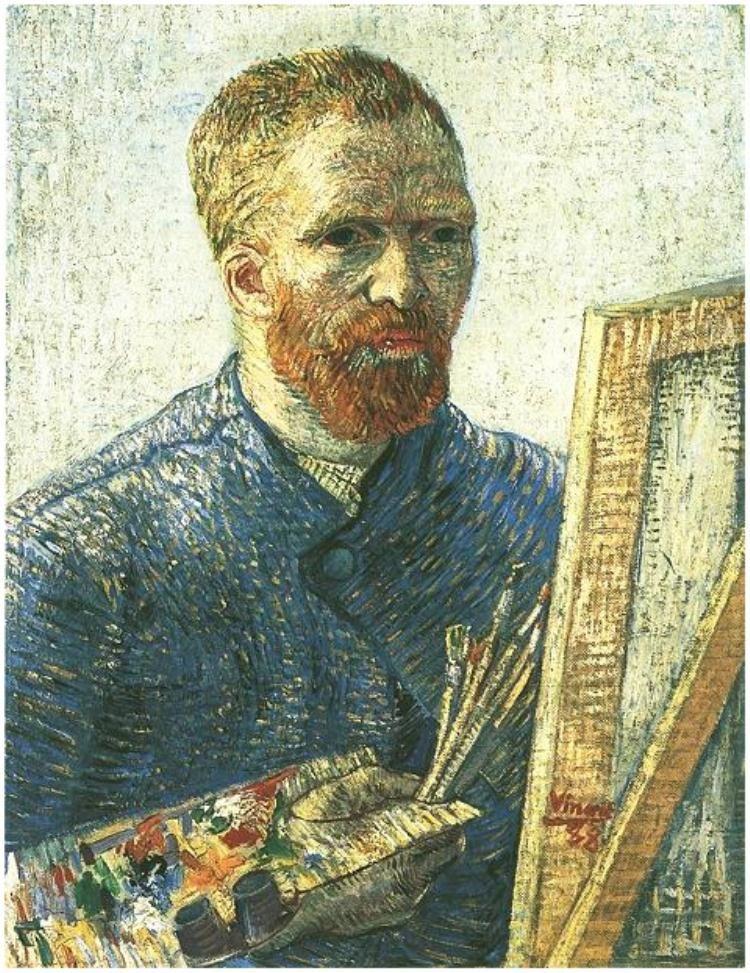 18cae5dca4122 Vincent van Gogh - Autorretrato delante del caballete