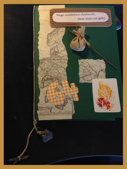 geburtstagskarte wandern natur birthday card hiking. Black Bedroom Furniture Sets. Home Design Ideas