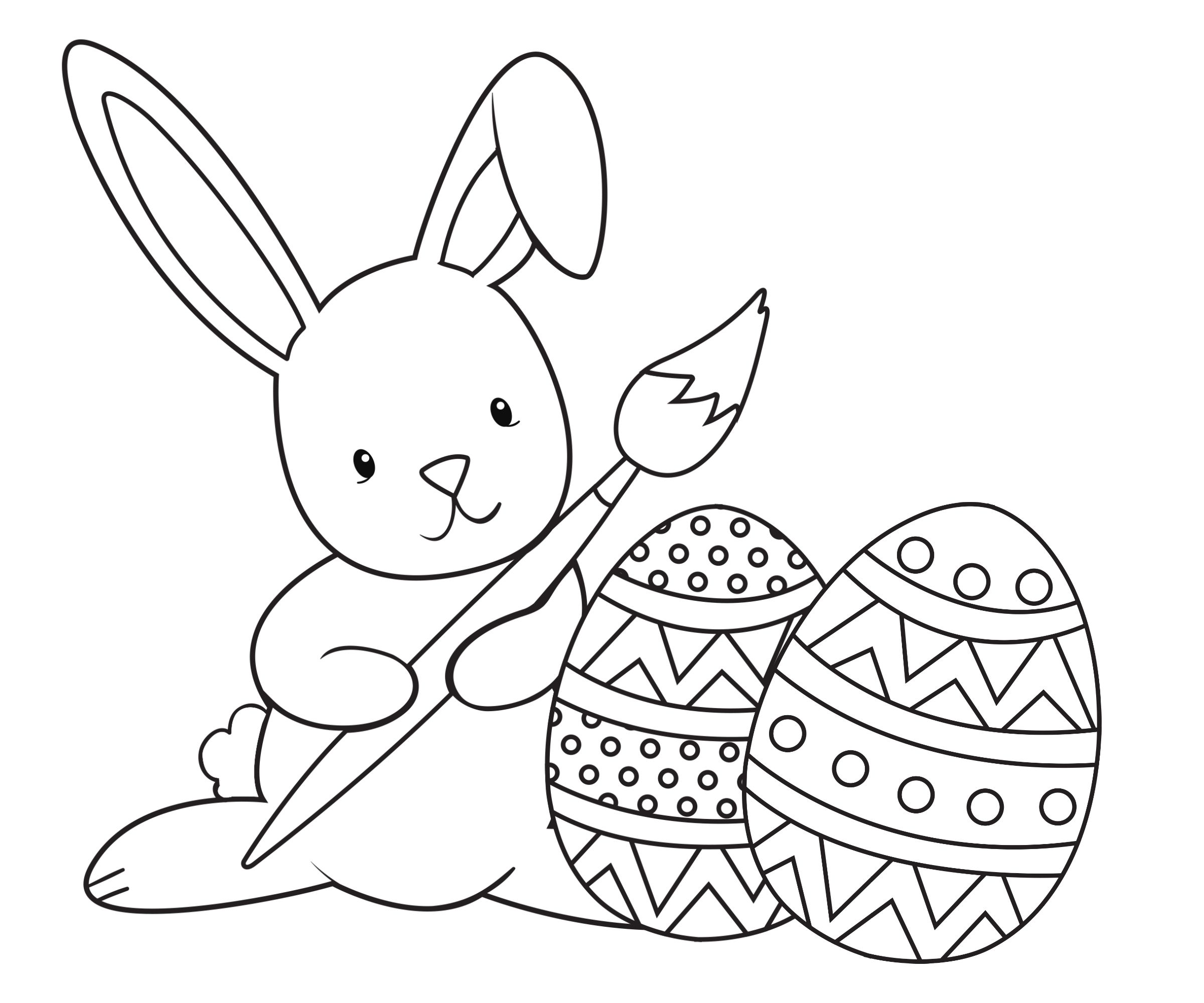 Easter Coloring Pages For Kids Bunny Coloring Pages Free Easter