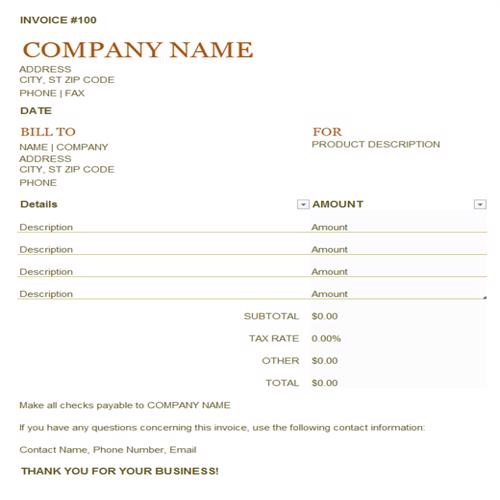 22 Practical Small Business Invoice Templates Besty Templates Invoice Template Invoice Example Invoice Template Word
