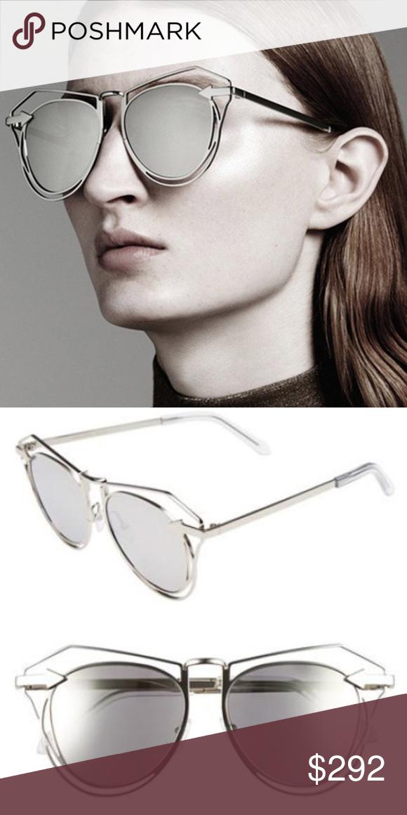 0669165fe45 KAREN WALKER MARGUERITE SUNGLASSES Lightweight Karen Walker sunglasses in a  sculptural