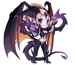 Dragon Sorceress Zyra Chibi League Of Legends by xCappu