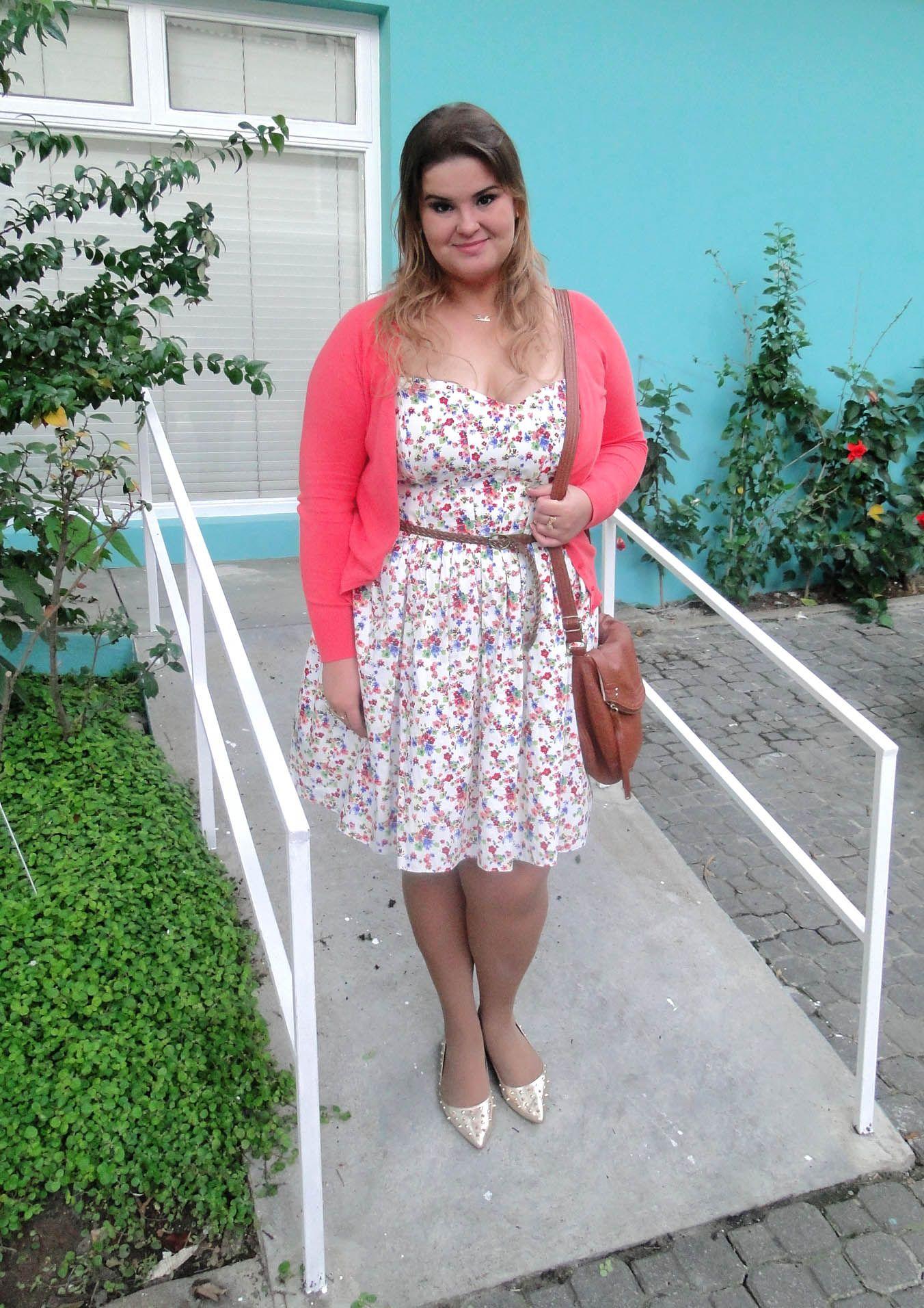 Look do dia vestido florido romantic moda and fashion