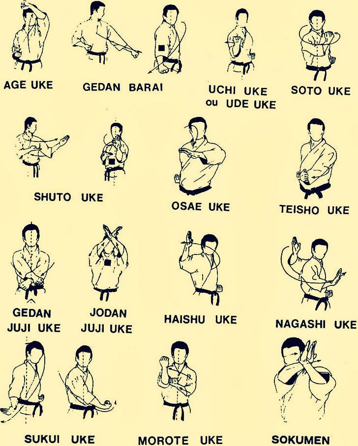 Basic Karate blocks.
