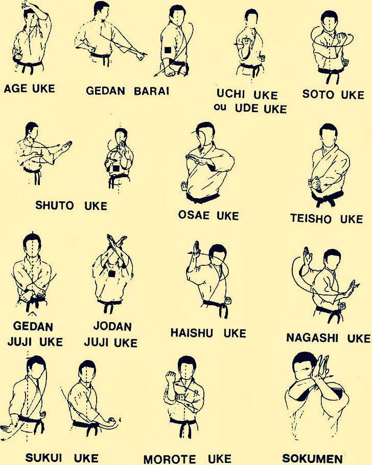 Basic Karate blocks.
