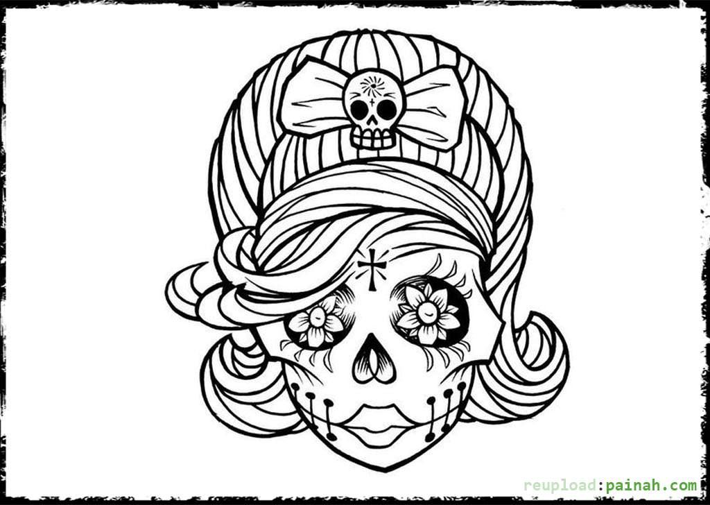 Day Of The Dead Coloring Pages Of Skulls | Pre K Halloween | Pinterest