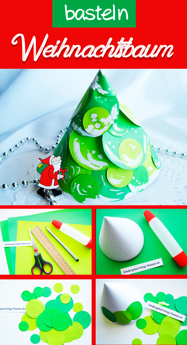Wunderschöne Weihnachtsdeko: Weihnachtsbaum aus Papier basteln ...