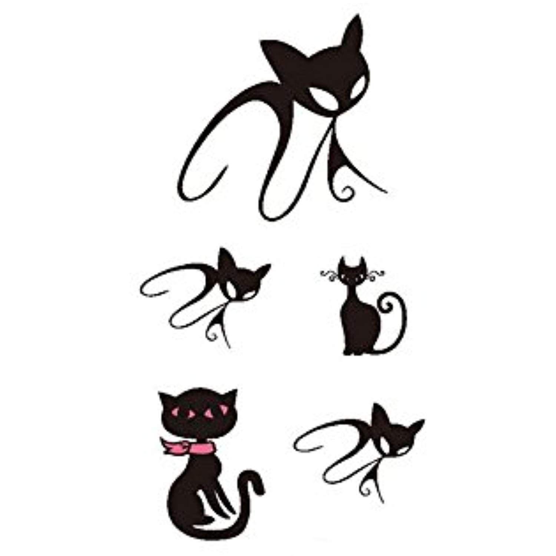 6 sheets cool 3d cute black cat stencils designs