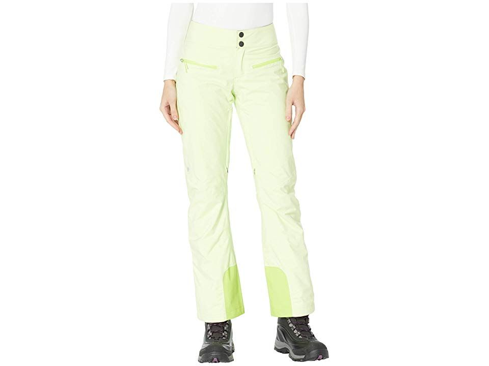 Obermeyer Bliss Pants (Citron) Women's Casual Pants. With a modern fit and performance tech  the Obermeyer Bliss Pants are the snow pants you need to chase your ski and snowboard dreams. Active fit is an athletic design engineered with articulated seams for full motion. HydroBlock Pro shell:  High degree of breathability helps to speed transport of moisture vapor from perspiration.  Highly waterproof and windproof protection