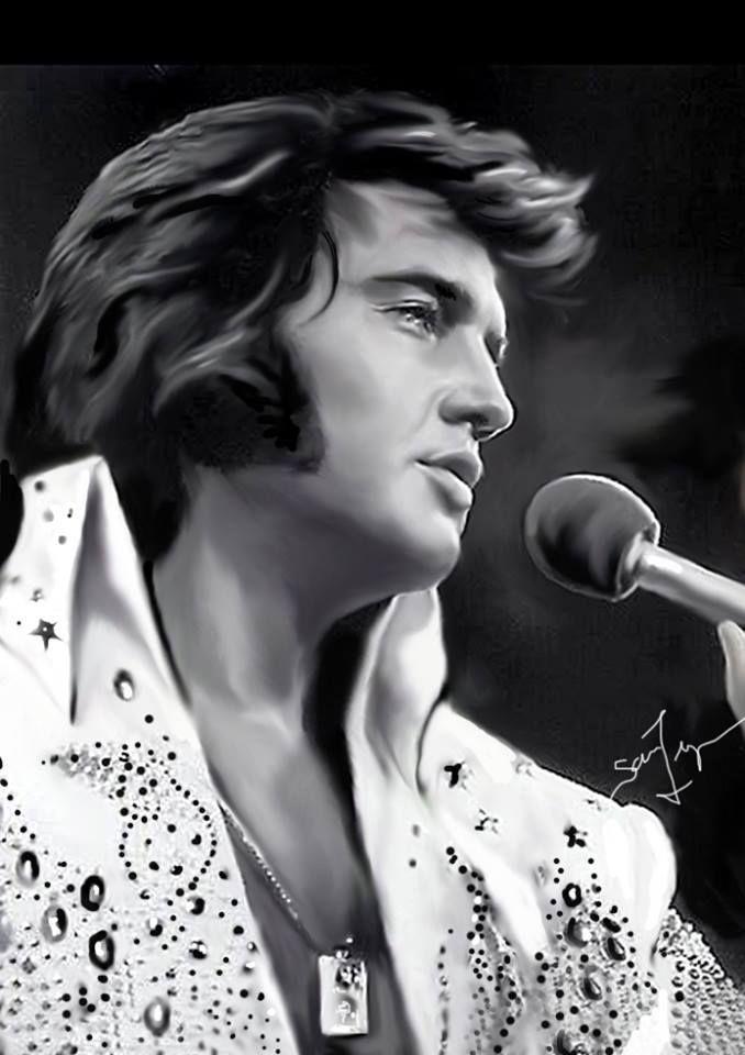 August 16, 1977: Elvis Presley Dies | The Nation  |1977 Elvis Painting