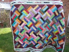 Easy jelly roll quilt.