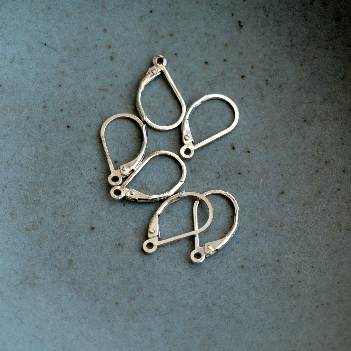 Sterling Silver Leverback Earring Clasp Ear Wires Hooks