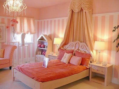 lindos dormitorios para nias color rosa