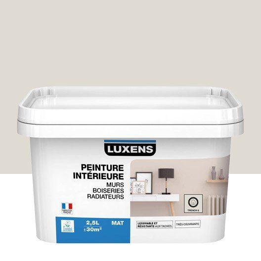 Peinture trench 6 mat LUXENS 25 l Idées pour la maison Pinterest - peinture satin ou mat