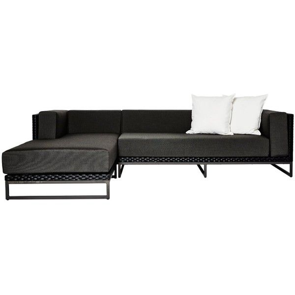 Coast Black Weave Chaise Lounge and Sofa Set from Harbour Outdoor