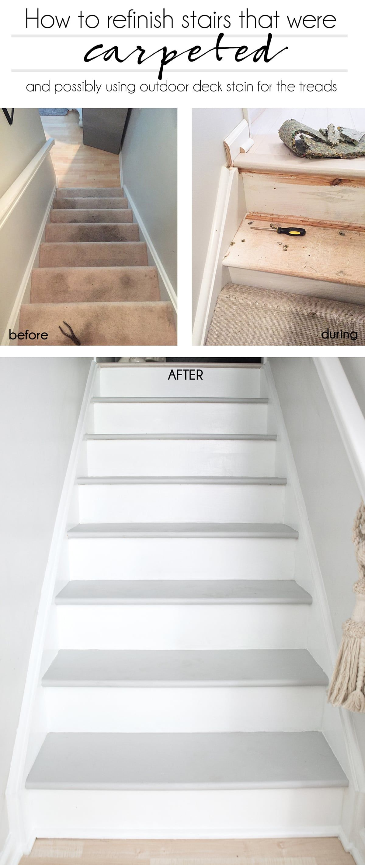 How To Refinish Stairs That Were Carpeted Refinish Stairs Diy