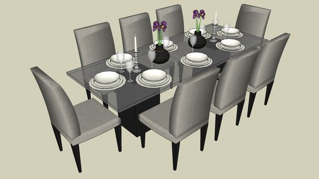 Sketchup Components 3d Warehouse Table 3d Table Component Dining Table Table Dining