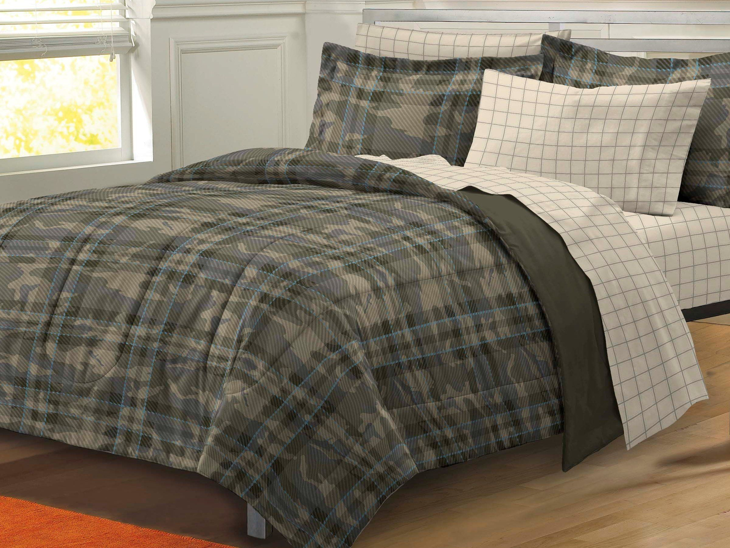 My Room Camp House Camouflage Ultra Soft Microfiber Boys forter