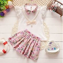 1079d61126c0 2016 Summer baby girls Christmas outfit clothing sets children ...