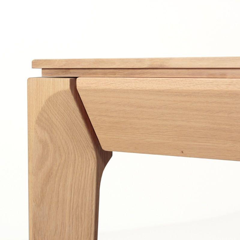 Table de salle à manger extensible en chêne buzz forme rectangle 4 pieds tables chaises et tabourets