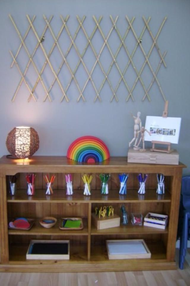 Art shelve at Hunter Early Learning shared by Renne Smith ≈≈