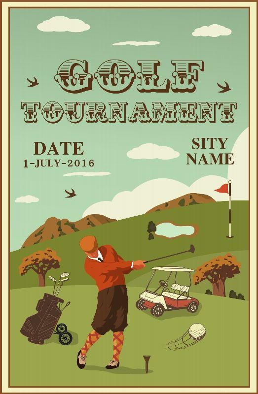Set Of Vintage Golf Labels Badges And Emblems Poster Dubai Golf Golf Card Game Vintage Golf