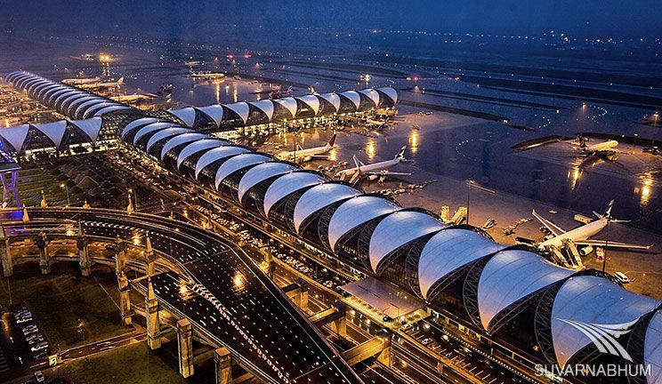 It is the new international airport in Bangkok. It is the main hub of international Thai airlines. It has the tallest control tower in the world and is the world's third largest terminal in one building. Suvarnabhumi Airport is the fifth busiest in Asia.