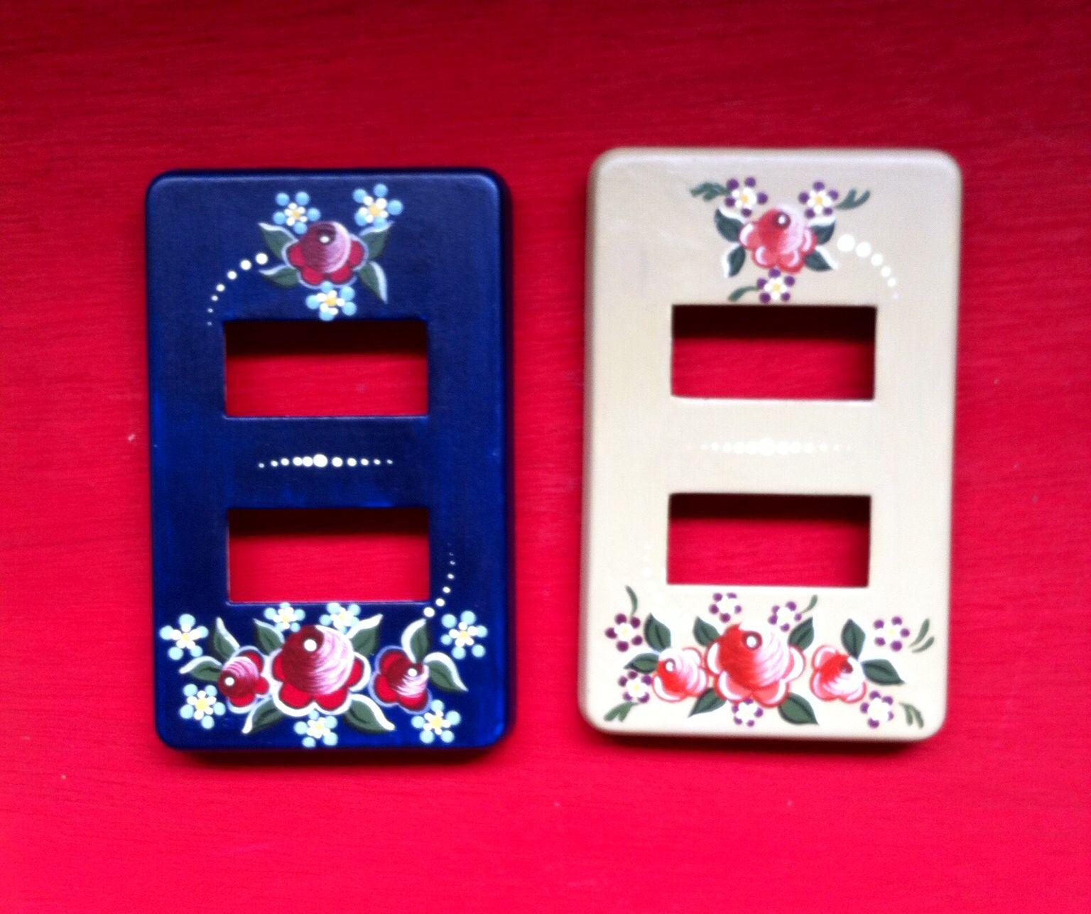 Tapas para contacto apagador detalles pintados - Embellecedores de luz ...