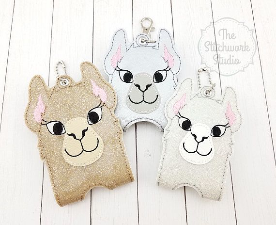 Llama Hand Sanitizer Holder Sanitizer Case Alpaca Travel