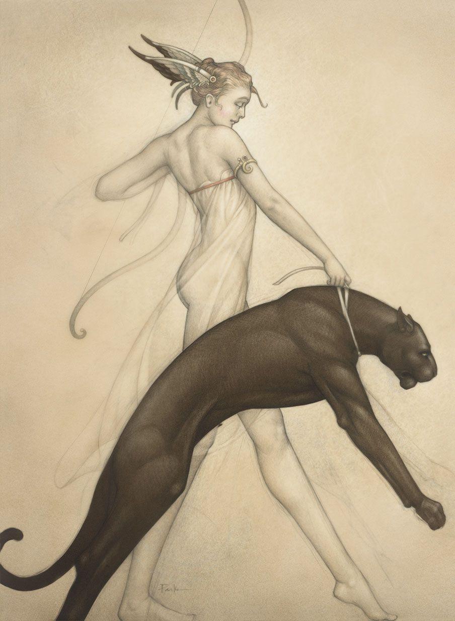 Goddess of the Hunt | Art, Illustration art, Artist
