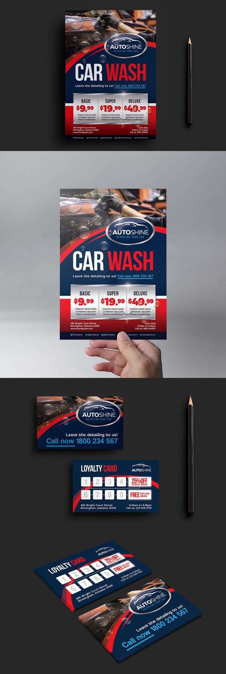 Free Car Wash Templates Mini Pack Print