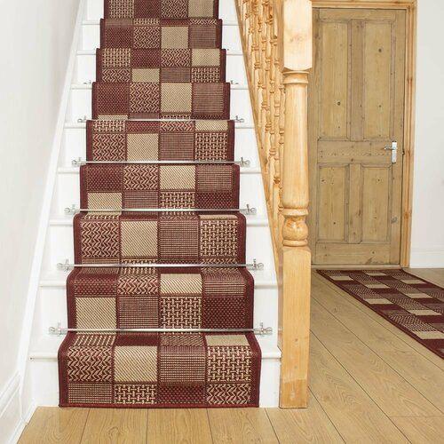 Union Rustic Flachgewebe-Teppich Abrahams in Rot | Wayfair.de
