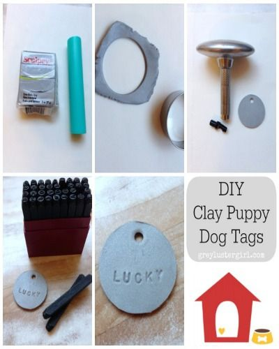 Clay Dog Tags And Toilet Paper Crowns Dog Tags Dog Tags Diy