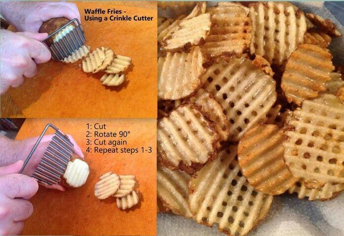 Waffle Fries Crinkle Cutter | Potatoes | Potato waffles