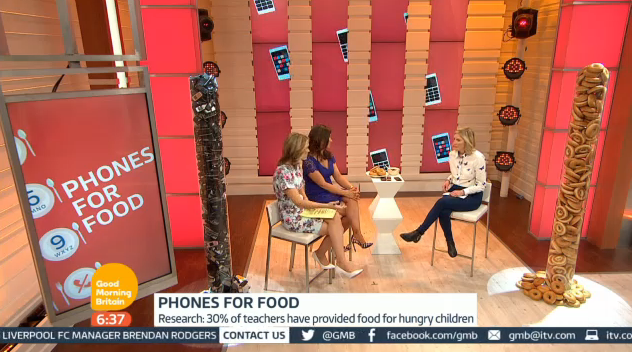 Good Morning Britain Phones For Food launch