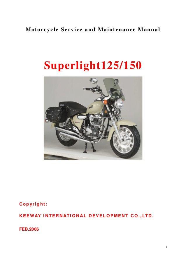 Keeway Superlight 125 Service Manual Moto Motorcycle