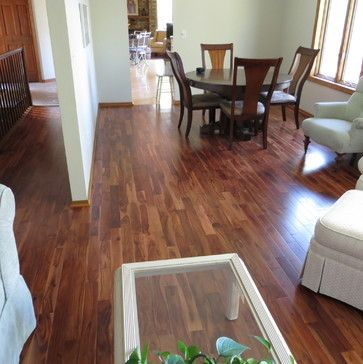 Solid Acacia Stain Smooth Prefinished Traditional Wood Flooring