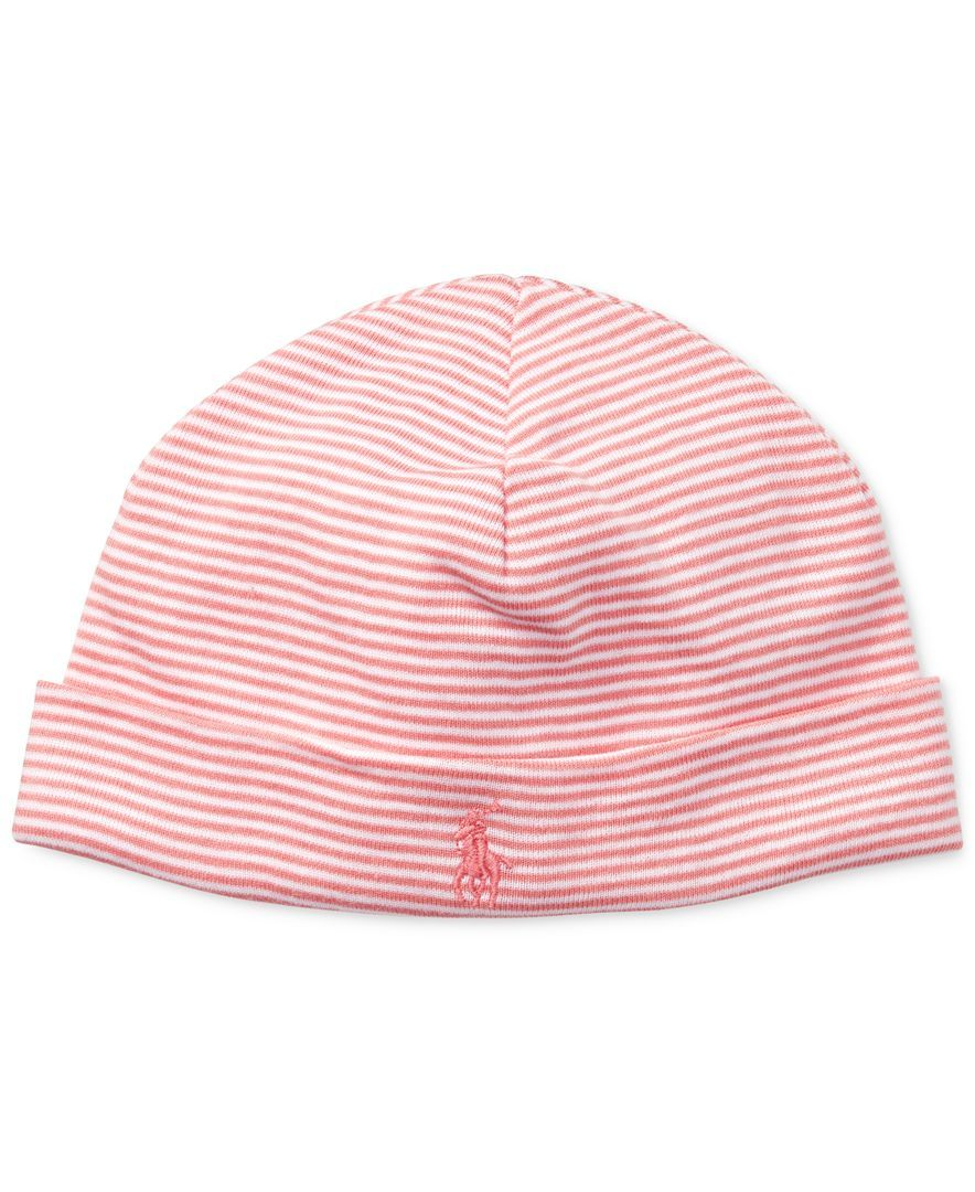 aa98d30a Ralph Lauren Baby Girls Striped Cotton Hat | Products | Cotton hat ...