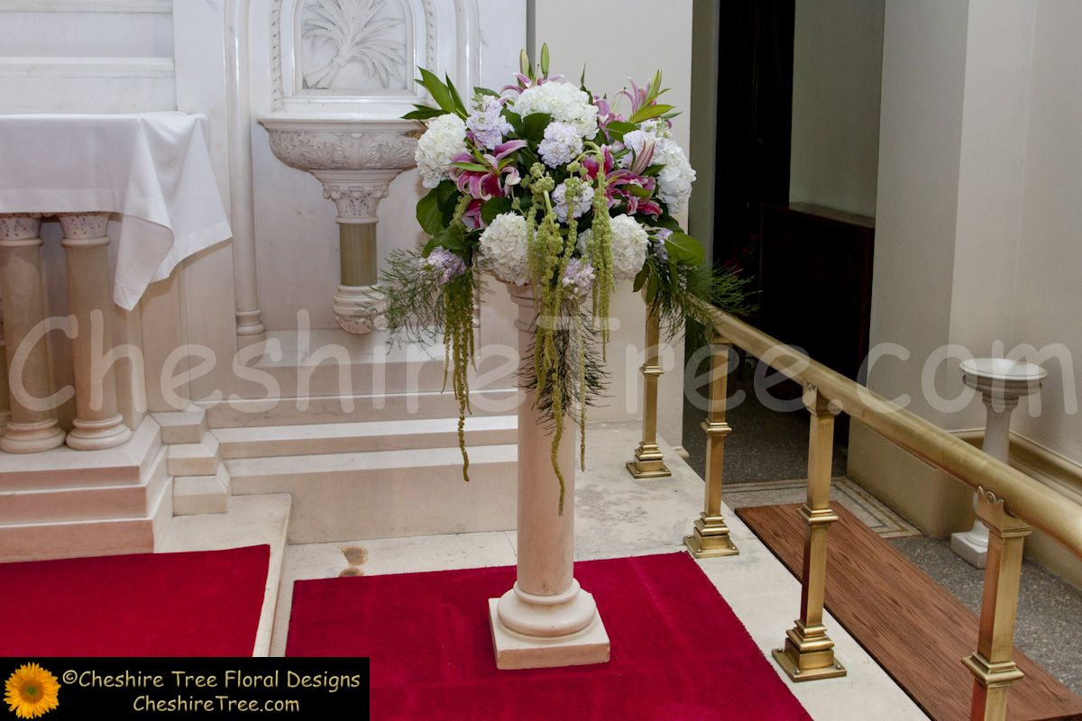 Tall Flower Arrangements | ... , White Plains and Whitby Castle Rye Wedding Flowers-Laura and Kenny